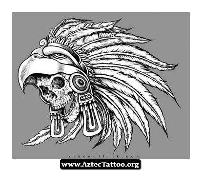 Aztec Eagle Warrior Headdress Tattoo   www.pixshark.com ...
