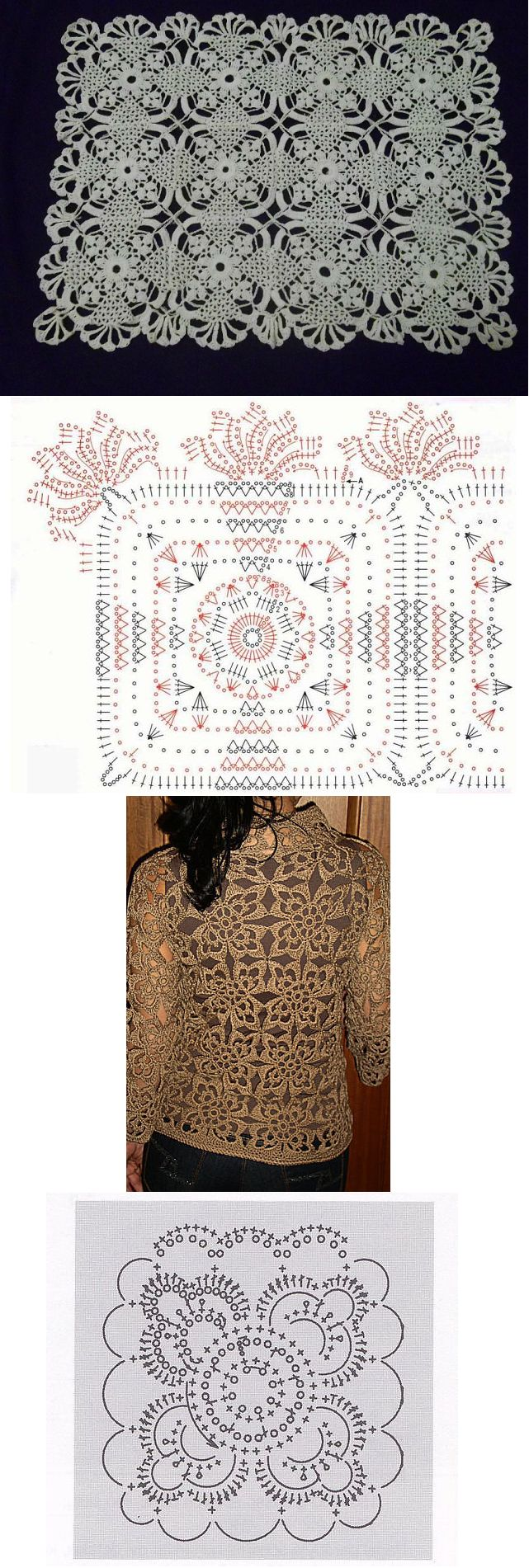 lacy crochet motifs - these are quite pretty!