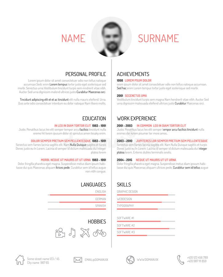 Cv Resume Template Vector Minimalist Cv Resume Template Minimalistic Blac Sponsored Vecto Cv Resume Template Resume Template Resume Design Template