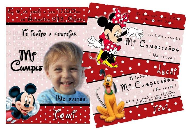 Tarjetas Infantiles De Cumpleaños / Souvenirs / Recuerdos