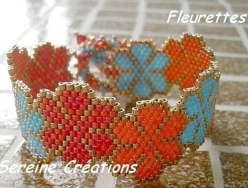 Free Pattern: Bracelet Fleurettes featured today in Bead-Patterns.com Newsletter!