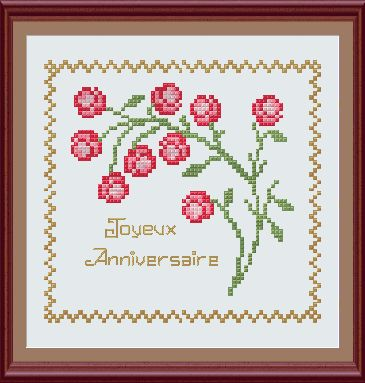 cross stitch flower pattern