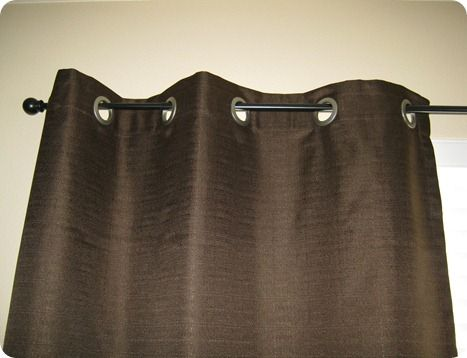 How to add grommets to curtains.  Also step by step instructions on Joannes.com - http://www.joann.com/static/project/0707/P268148.pdf