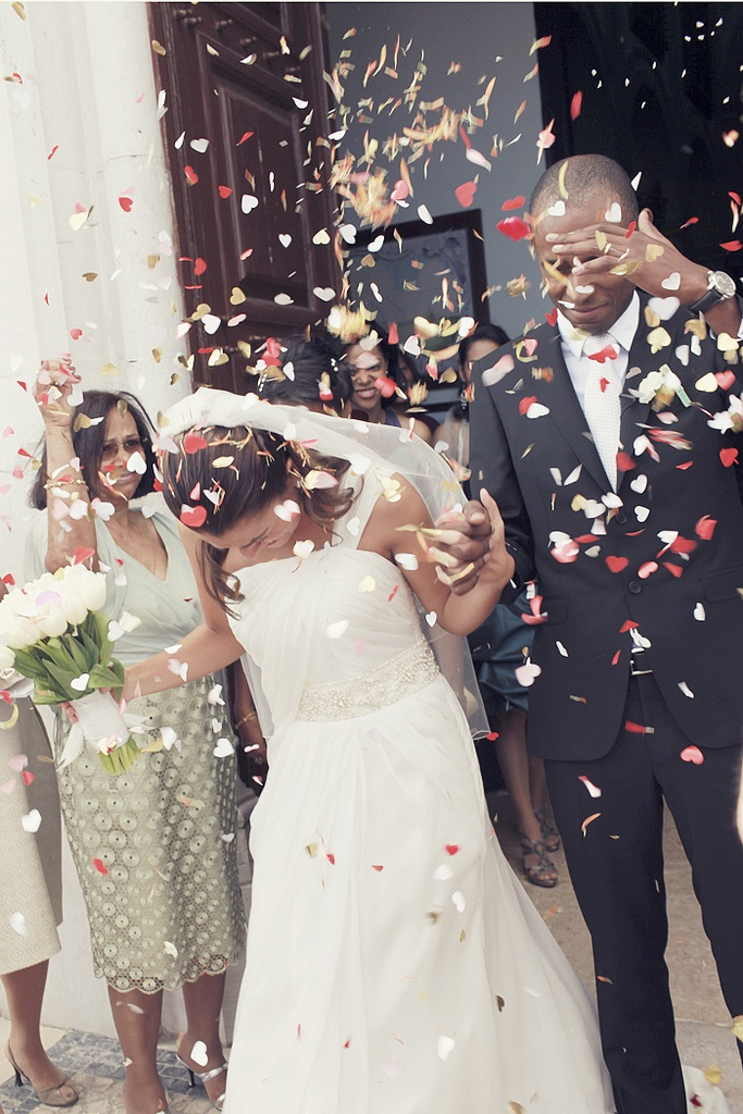 confetti tossed after you say i do and walk down aisle