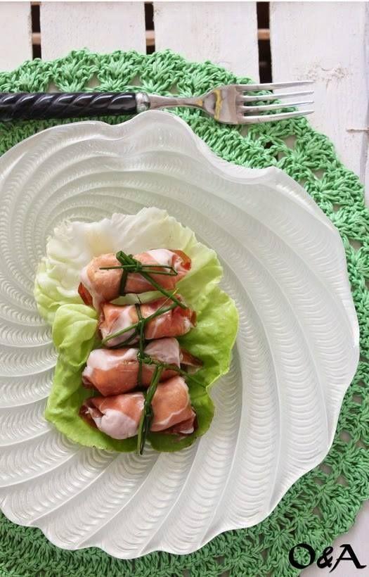 La nostra amica Fabiola ci propone un lunch estivo semplice ma gustoso presentato sul piatto Saint Tropez decoro bianco madreperla