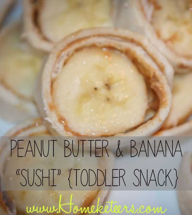 Peanut Butter and Banana Sushi Toddler Snack Recipe