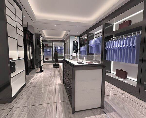 Men Clothing Showroom Interior Design With Images Showroom