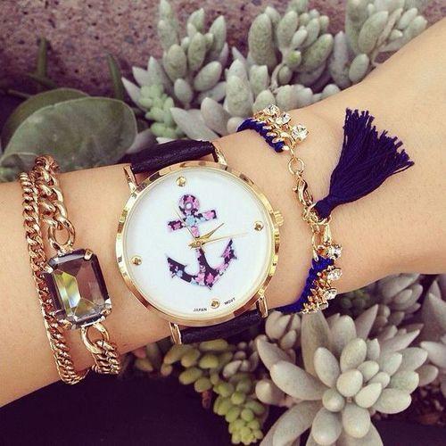 Image de watch, bracelet, and blue