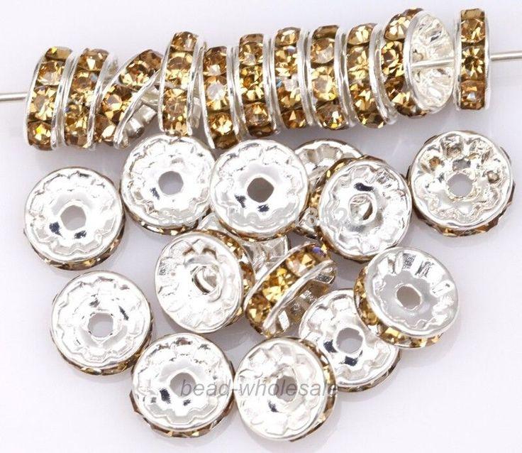 Omh 50 шт цвет шампанского цвет кристалл горный хрусталь спейсерной бусины для ювелирные изделия делает 10 мм