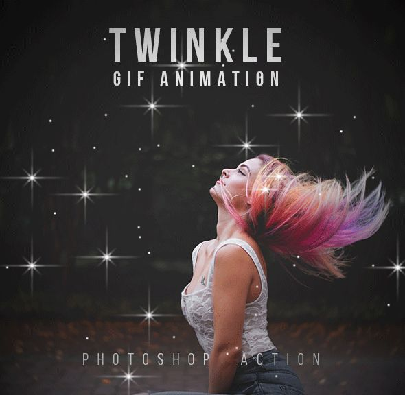 Twinkle Gif Animation Photoshop Action by walllow | GraphicRiver