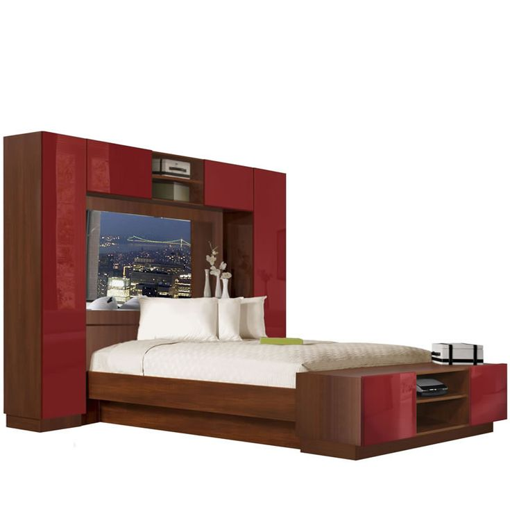 chilton pier wall bed with mirrored headboard - Pier Wall Bedroom Furniture