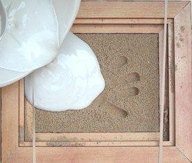 Pressions Baby Feet Handprints kits Footprint kits Pet prints Baby gifts - Instructions