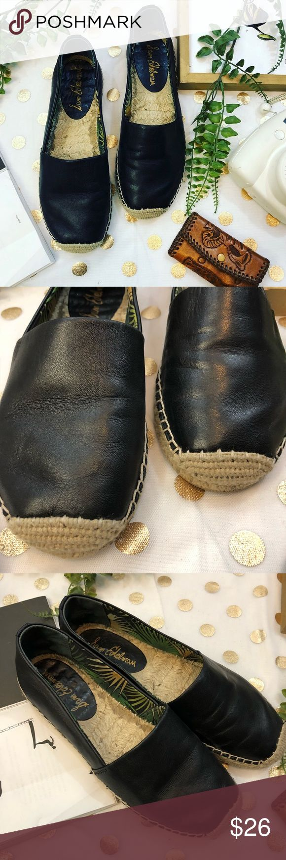 Sam Edelman black leather espadrilles size 7 Sam Edelman black leather espadrilles size 7  In good used condition  Perfect for spring right around the corner !  Comfortable flat shoe  Perfect with your favorite jeans  Any ? Please ask  I would love to accept your offer ✨ Sam Edelman Shoes Espadrilles