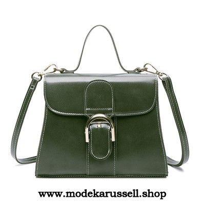 Damen Handtasche Schulter Tasche in Grün