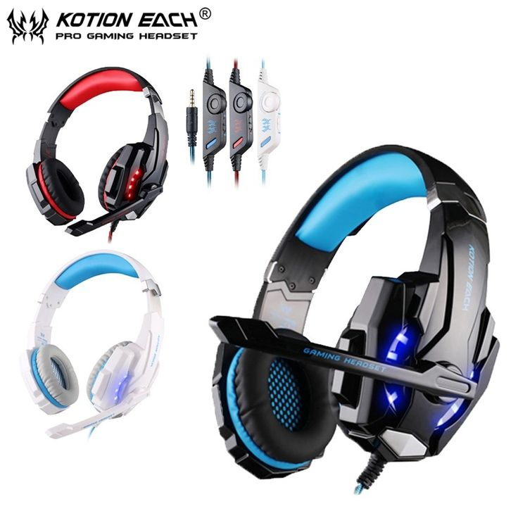 Perfect KOTION EACH mm USB Surround Sound Gaming Headphone Headset Headband with Mic LED PsHandyHeadsetBeleuchtungTragbarKaufe