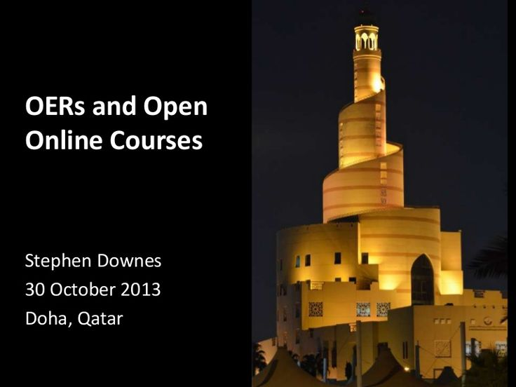 OERs and Open Online Courses by Stephen Downes via slideshare