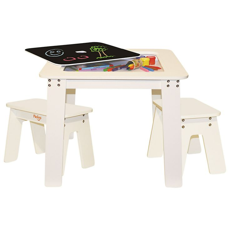 Buy Your Chalk Table U0026 Bench Set   White By Pu0027kolino Here. The Chalk Table  From Pu0027kolino Features A Reversible Top And Under The Table Storage  Compartment ...