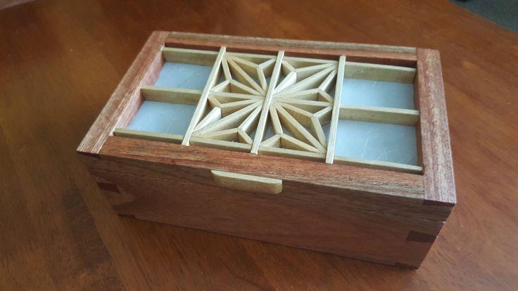 Box with kumiko I made as a Christmas present http://ift.tt/2i8Kikp