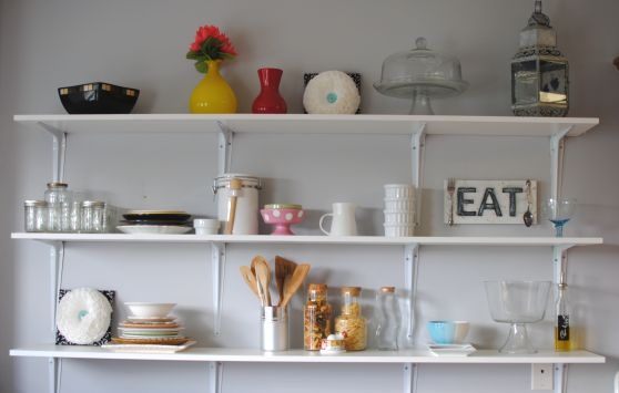 Kitchen Shelves 31 Making Space in a Crowded Kitchen