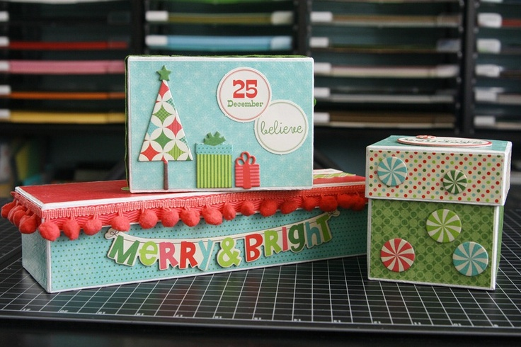 .: Laura Mme Christmasgiftboxset, Altered Christmas, Christmas Boxes, Christmas Card, Christmas Ideas, Paper Crafts, Craft Ideas, Christmas Gifts