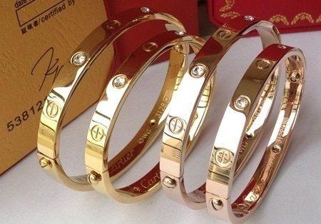$27 Cartier love bracelets - replica. Etsy listing expired.