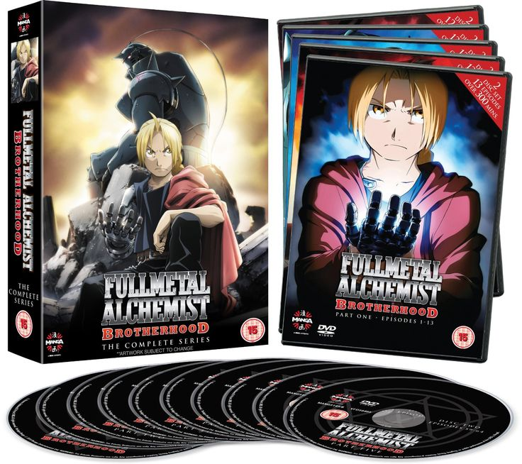 Fullmetal Alchemist Brotherhood Complete Series Collection Episodes 1-64 DVD:Romi Park, Megumi Takamoto, Rie Kugimiya, Shinichiro Miki, Yasuhiro Irie: DVD & Blu-ray