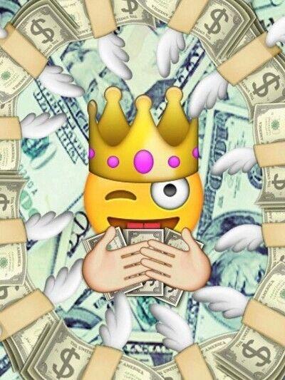 Flying Money Emoji Wallpaper