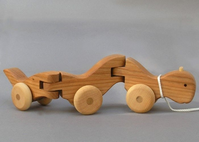 Wiggle Worm Pull Toy wooden Waldorf Animal on Wheels gift for BabiesToddlers Kids Girls  Boys. $17.50, via Etsy.