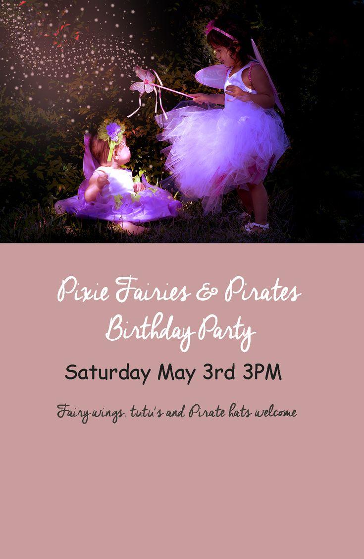 Pixie Fairy Themed Birthday Party Planning Part I. DIY Tulle Tutu. DIY Fairy Invitation using Photoshop.
