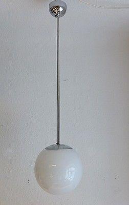 Bauhaus Deckenlampe Pendellampe Kugel Lampe Opalglas Ceiling Lamp Deco 3