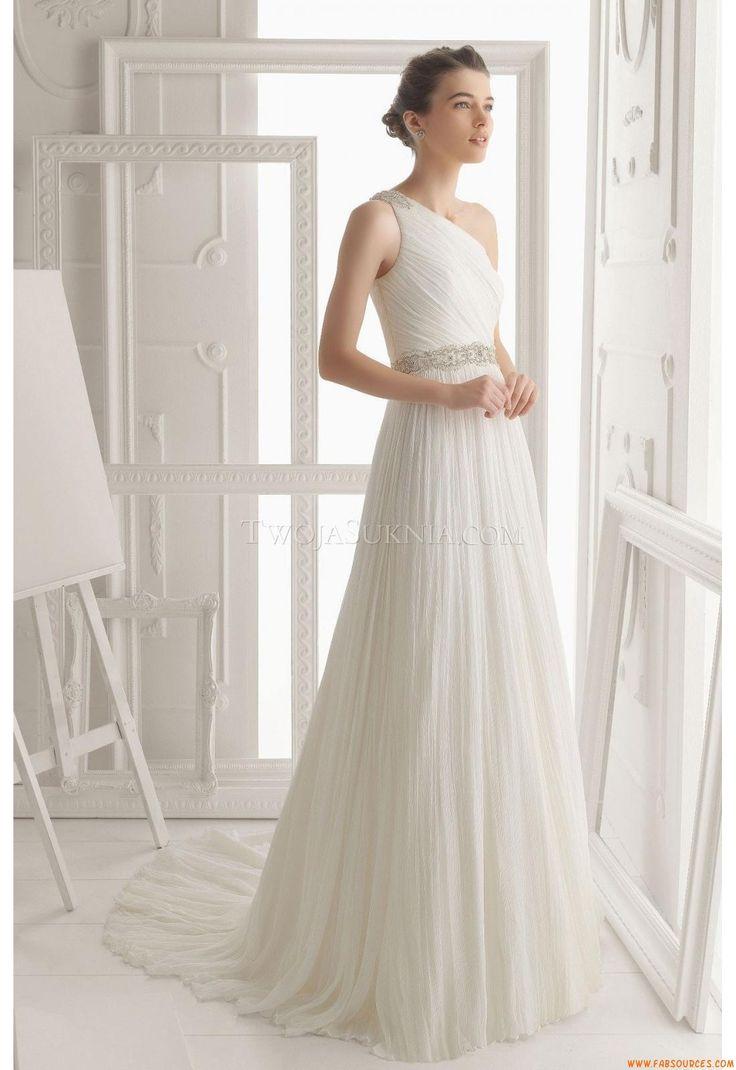 Robes de mariée 2014 tulle evasée cristal asymétrique