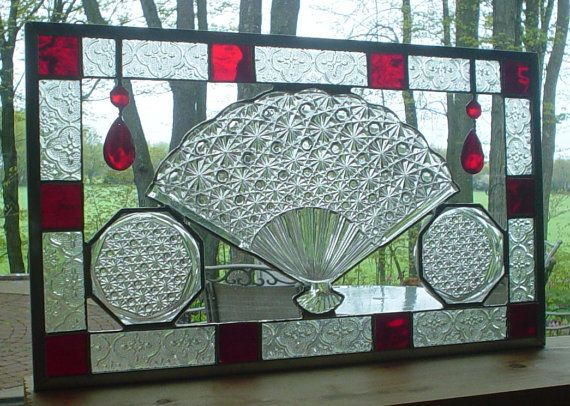 stained glass panel window Victorian by Barbarasstainedglass