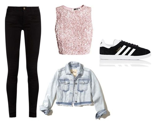 """Casual"" by juanaguzman on Polyvore featuring Hollister Co., Gucci and adidas"