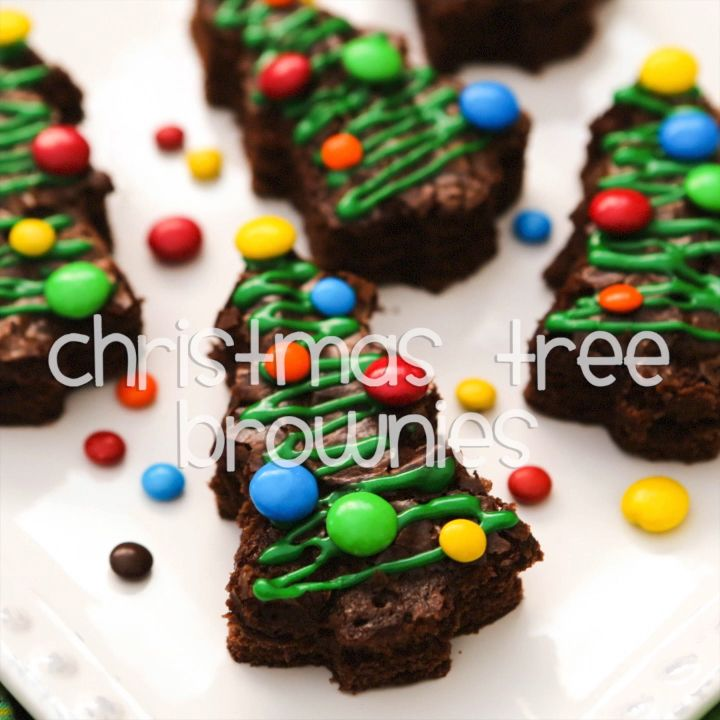 Christmas Tree Brownies Recipe {VIDEO} — Pip and Ebby