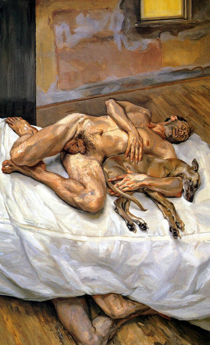 Sunday Morning, Eight Legs, by Lucian Freud,1997.