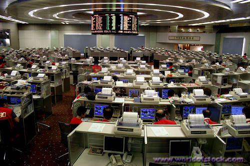 HKEx Hong Kong Stock Exchange trading floor