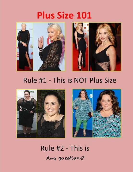 I love all these women but it's true because I obviously don't look like Kate Winslet or Christina Aguilera. LOL