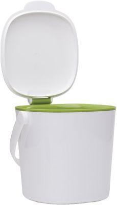 #Unisex #Küchen #Mülleimer #Good #Grips #weiß Der OXO Küchen-Kompostabfalleimer kann dank seiner kompakten Größe und des ansprechenden Designs im Alltag auf der Arbeitsplatte verwendet werden. Im geschlossenen Zustand hält er Gerüche zuverlässig zurück. - für die Spülmaschine geeignet - leichtes Entleeren dank spezieller Form und abnehmbarem Deckel - rotierender Griff für einfachen Transport - Maße: 20 x 19 x 19 cm - Fassungsvermögen: 4 Liter Material: Kunststoff