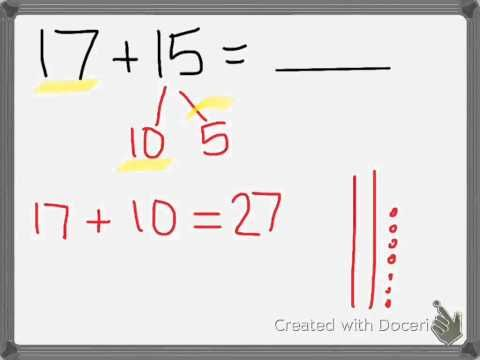 Adding two digit numbers when we make a new ten - YouTube