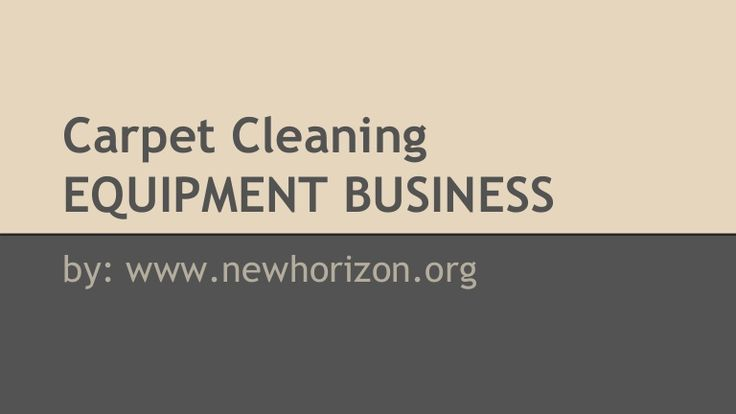 Carpet Cleaning Equipment Leasing