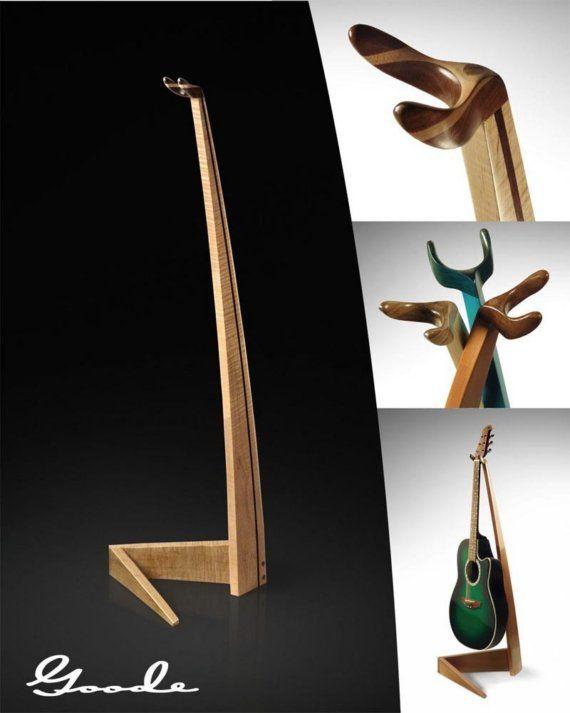 Elegant Maple Guitar Stand by Feneg on Etsy
