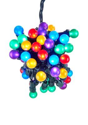 Kurt S. Adler Ul 50-Light Multi-Colored Led Pearlized Novelty Light Set -  - One Size