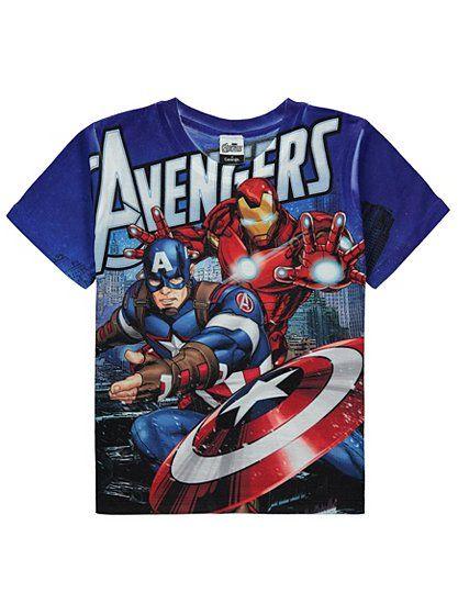 Avengers T-shirt, read reviews and buy online at George at ASDA. Shop from our latest range in Kids. They'll love sporting their favourite comic heroes with ...