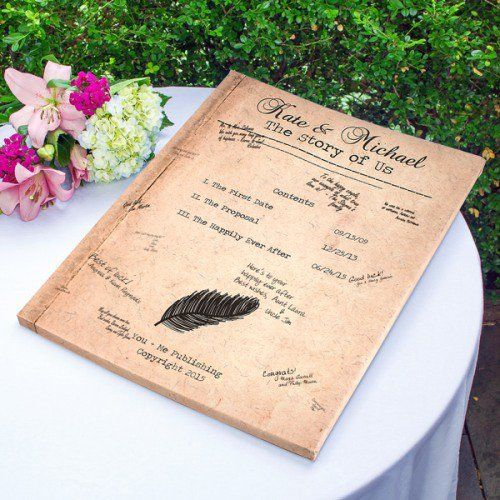 Personalized Canvas Guest Book by Beau-coup