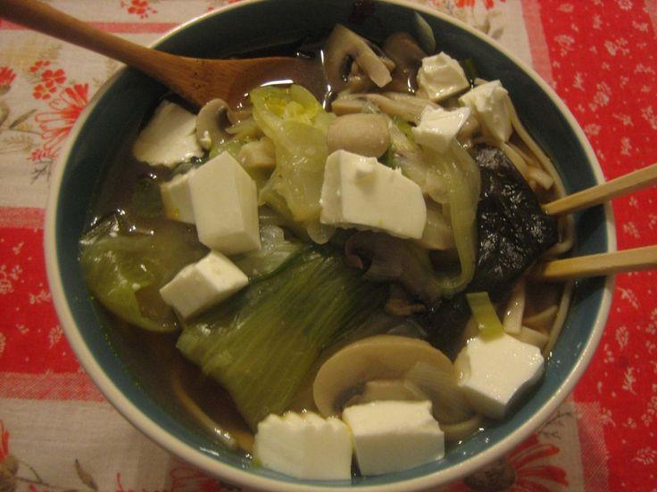 Sopa de Miso con Puerros y Alga Wakame on http://www.cocinasana.eu