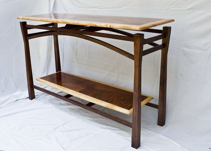 Floating Top Sofa Table With Floating Shelf   By Doug_w @ LumberJocks.com ~  Woodworking