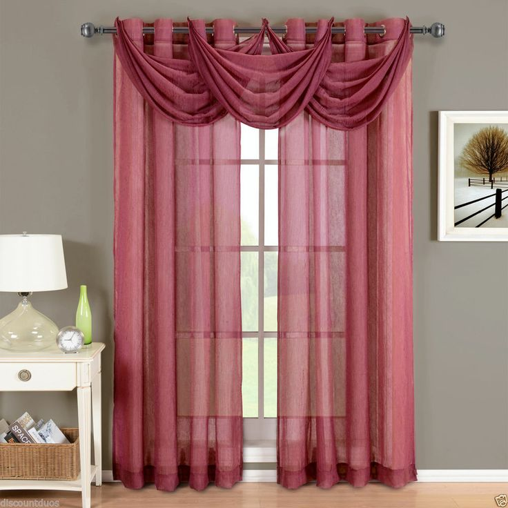 24 best curtains images on Pinterest | Window coverings, Burgundy ...