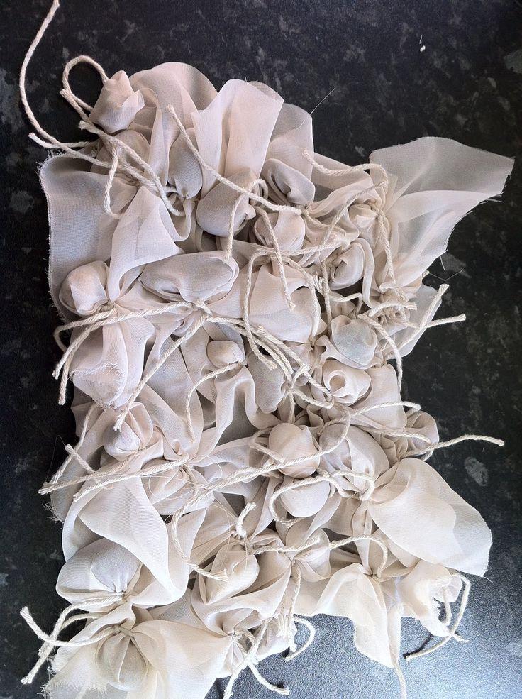 Fabric Manipulation - fabric sample using shibori techniques to create texture; textiles design // Rebecca Spilsbury