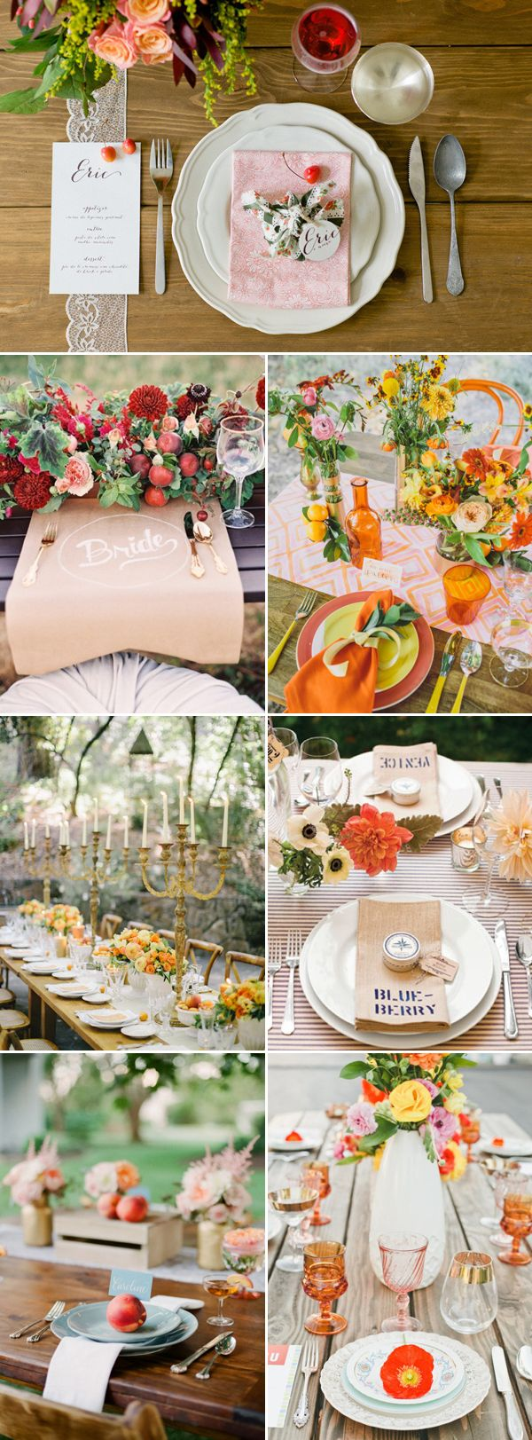 16 Beautiful Place Setting Ideas For Fall Weddings Place