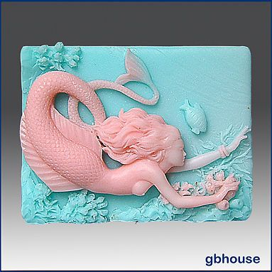 Silicone Soap Mold – Mermaid Herbena                              …